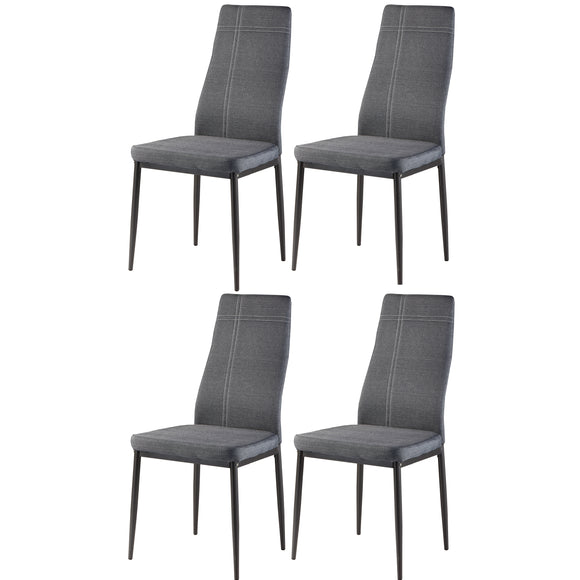 Bri Kitchen Dining Chairs, Gray Fabric