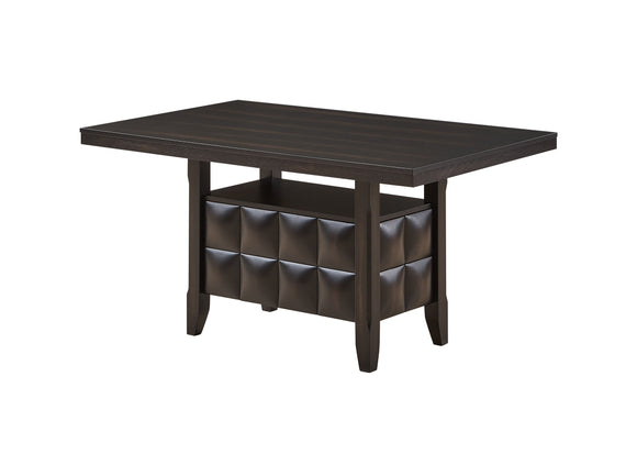 Huxley Storage Dining Table, Black Wood