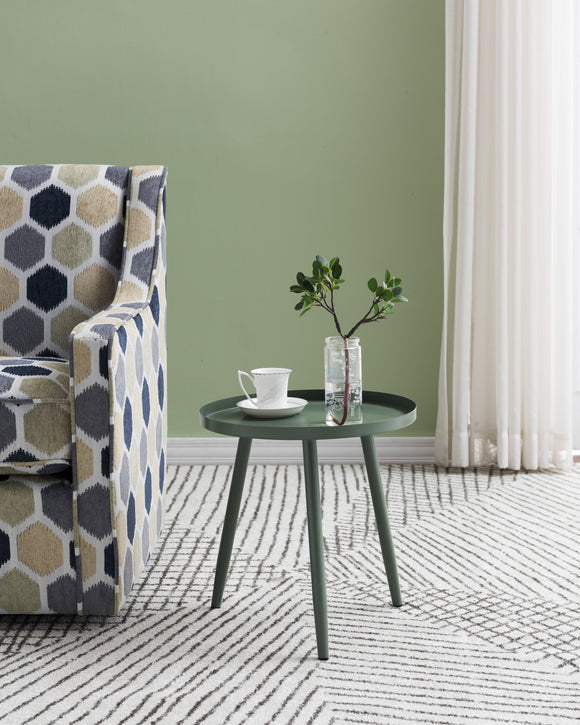 Scranton Side Table, Green Metal