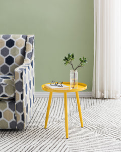 Scranton Side Table, Yellow Metal