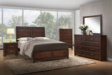 Millie Walnut Wood Contemporary Configurable Panel Bedroom Set - Pilaster Designs