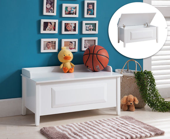 Daren Toy Chest, White Wood