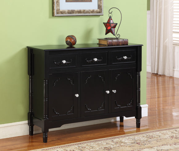 Camden Sideboard Buffet, Black Wood