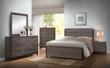Dansville Antique Gray Wood Configurable Modern Panel Bedroom Set - Pilaster Designs