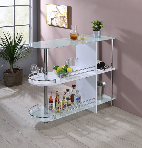 Axel Bar Table, White