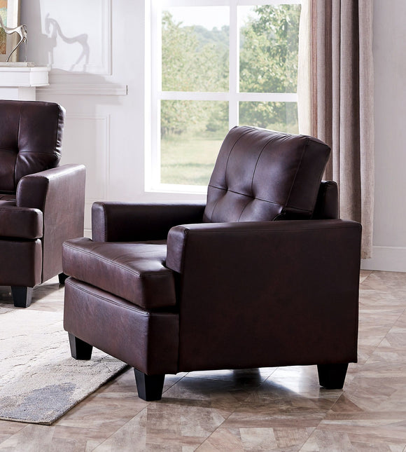 Molina Chair, Brown Faux Leather