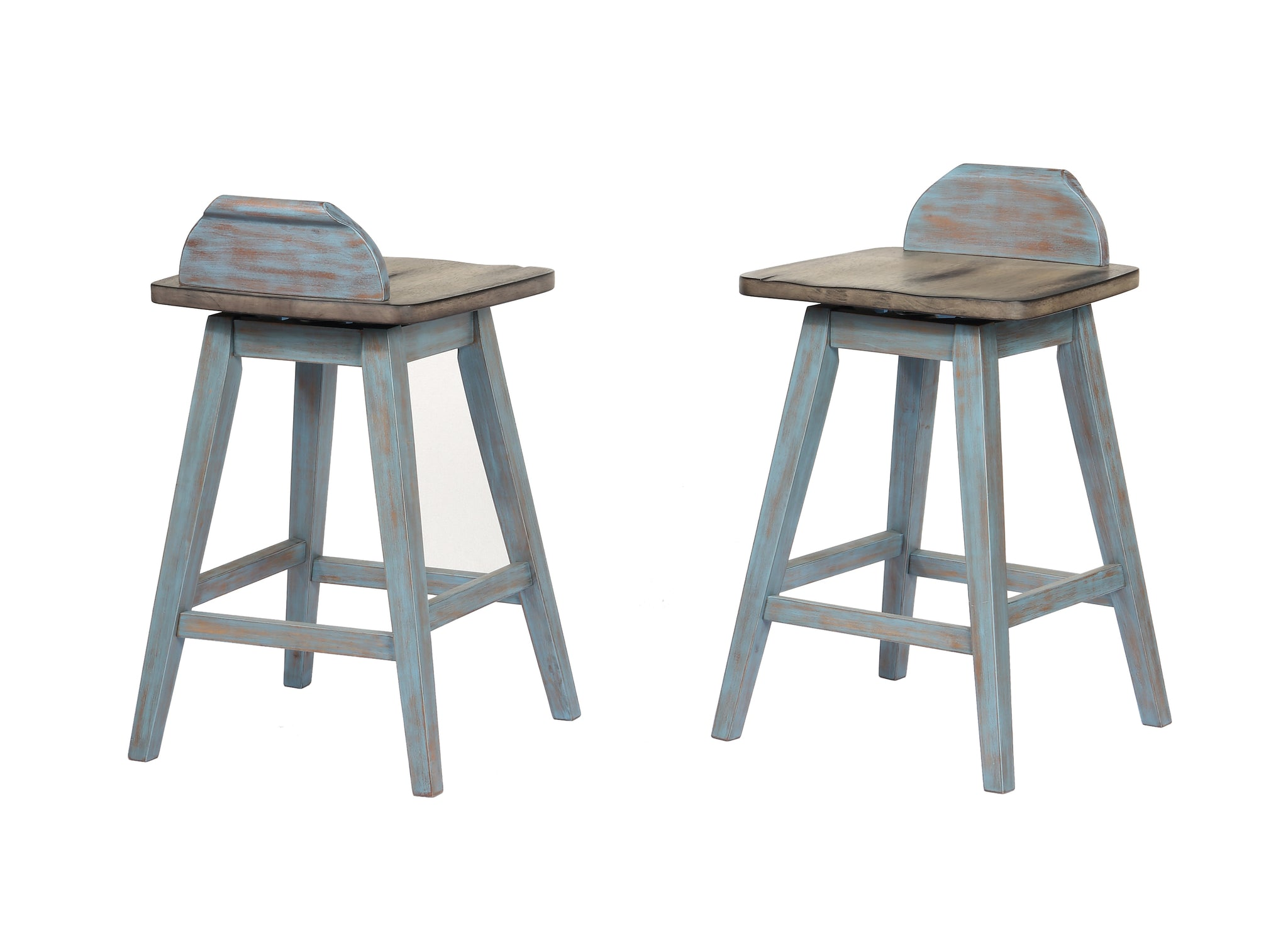 c3ff7f1045a8 ... Kris Counter Height Dining Set, Distressed Gray & Washed Blue ...