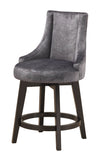"Walden 25""H Counter Height Stools, Gray Fabric & Cappuccino Wood"