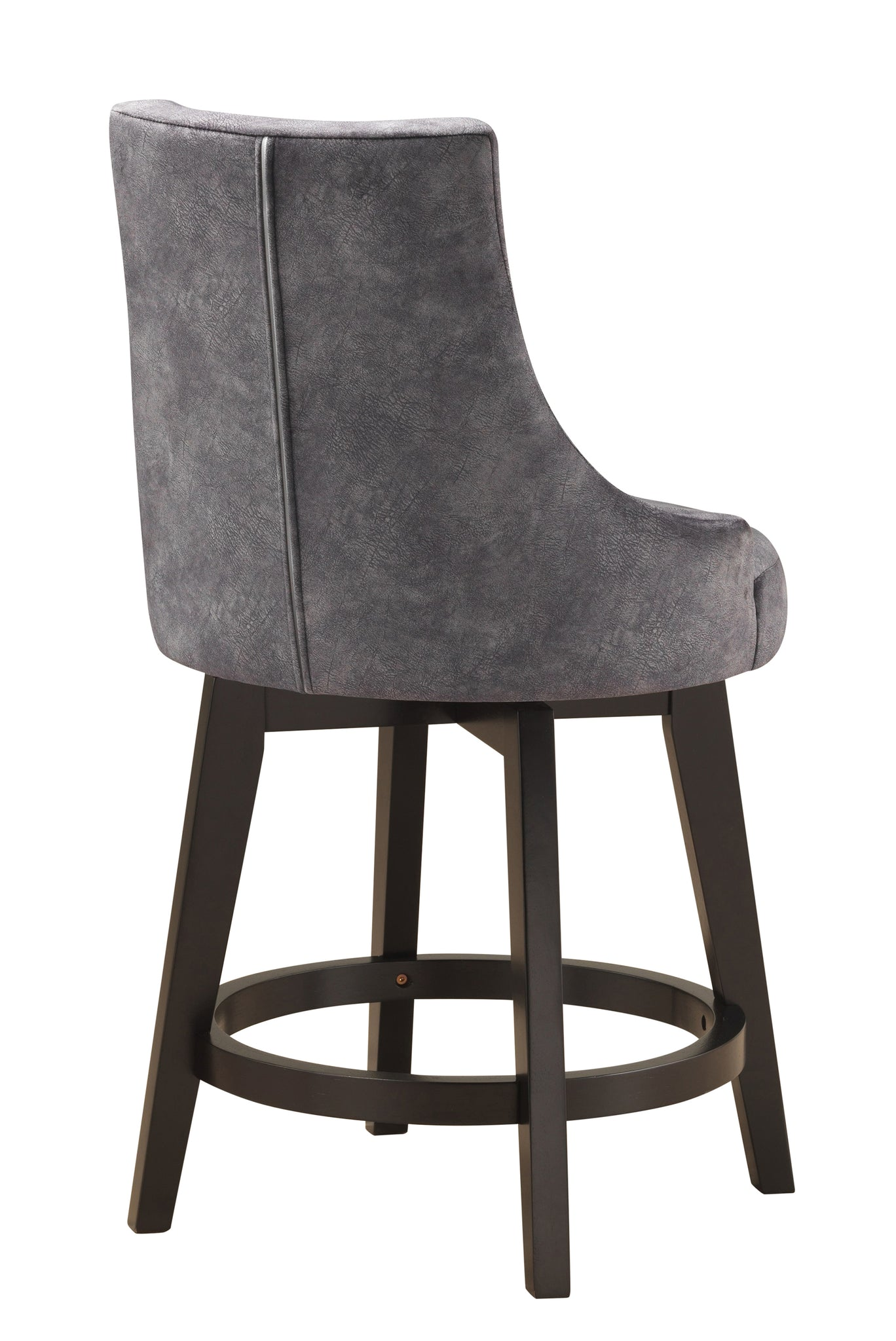 Walden 25h Swivel Counter Height Bar Stools Gray Fabric