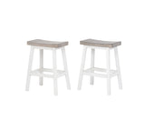 Millport Bar Stools, White & Wash Gray Wood