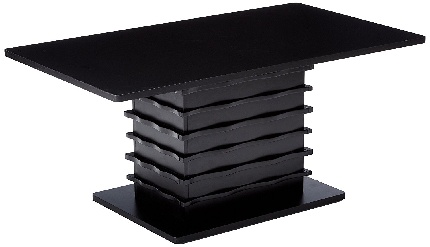 Leina 3 Piece Coffee Table Set Black Wood Cocktail Coffee 2 End