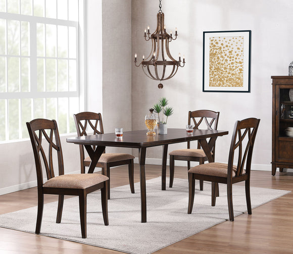 Mindy 5 Piece Dining Set, Cherry Wood