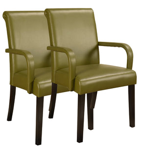 Maggie Dining Chair, Green Faux Leather