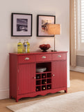 Oscar Bar Cabinet, Red Wood