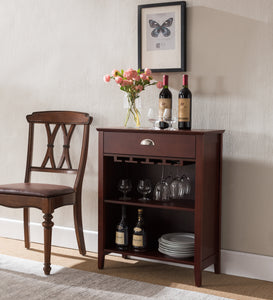Waylon Bar Cabinet, Dark Cherry Wood