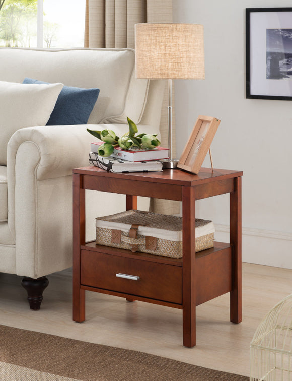 Ultima Side Table, Walnut Wood