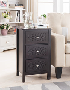 espresso entryway table. Espresso Wood Contemporary Accent Side Sofa Entryway Table With Three Storage Drawers
