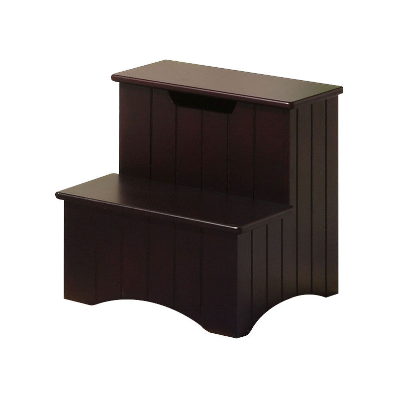 ... Merlot Or White Wood 13 Inch Storage Bedroom Step Stool Organizer ...