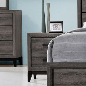 Asheville Nightstand, Gray Wood