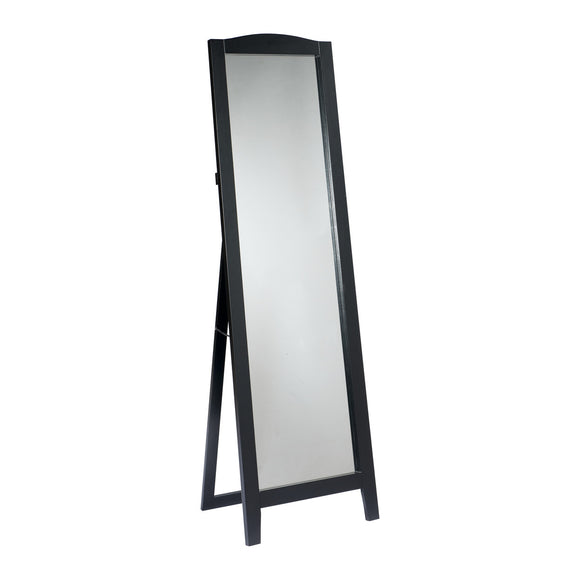 Black, Cherry or White Contemporary Wood Frame Rectangle Floor Standing Mirror 18 x 64 - Pilaster Designs