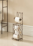 Copper Iron Toilet Paper Storage Holder Rack Organizer - Pilaster Designs