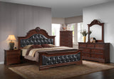 Valencia Configurable Bedroom Set, Antique Brown Wood