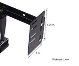 Headboard / Footboard Attachment Brackets Modification Modi-Plates For Bed Frame With Multiple Slots (Set Of Two) - Pilaster Designs
