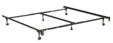 Metal Adjustable California King, King, Queen, Full, Twin, Universal Heavy Duty Bed Frame With Center Support Rail, 6 Legs, 2 Center Support, 2 Rug Rollers and 2 Locking Wheels - Pilaster Designs
