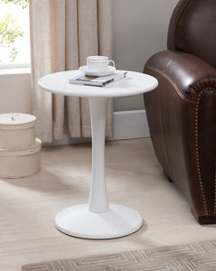 Ulva Side Table, White Wood