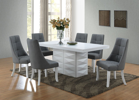 dining room furniture white wood. white wood modern rectangle dinette dining room table \u0026 vinyl side chairs furniture