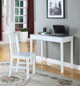 Gracelyn White Wood Home & Office Computer Workstation Desk With Storage Drawer - Pilaster Designs