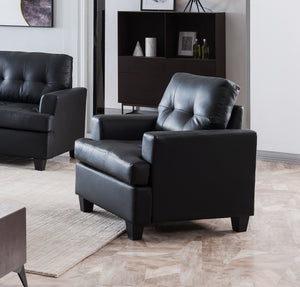 Molina Chair, Black Faux Leather
