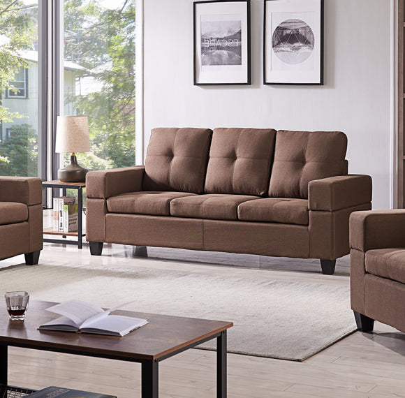 Boutwell Sofa, Brown Fabric