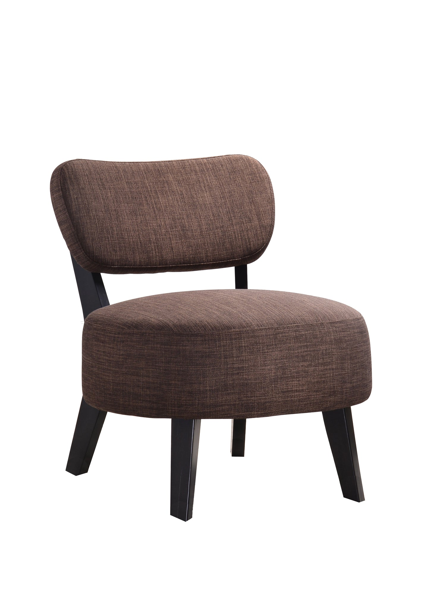 wood frame accent chairs. Brown \u0026 Black Upholstered Fabric Armless Oversized Accent Chair With Wood Frame Legs Chairs A