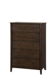 Julitta Chestnut Brown Wood Queen Size Configurable Shaker Panel Bedroom Set - Pilaster Designs