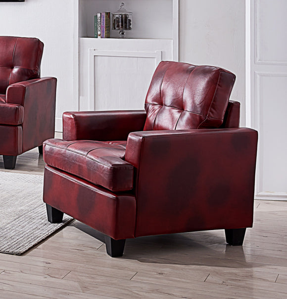 Molina Chair, Red Faux Leather
