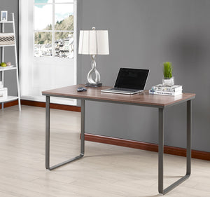 office computer tables. Madilyn Wood \u0026 Metal Brown Gray Modern Home Office Computer Desk Workstation Tables L