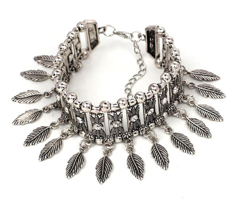 Feather Charm Arm Cuff Bracelet