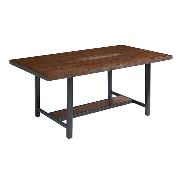 Industrial Dining Table w/ Zinc Planter