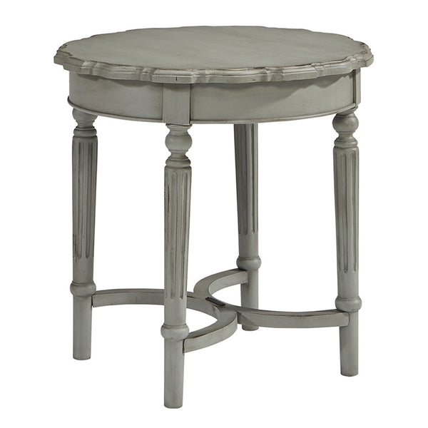 French Inspired Short Round Side Table