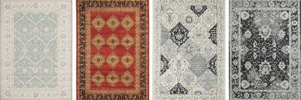 four traditional rugs in a row