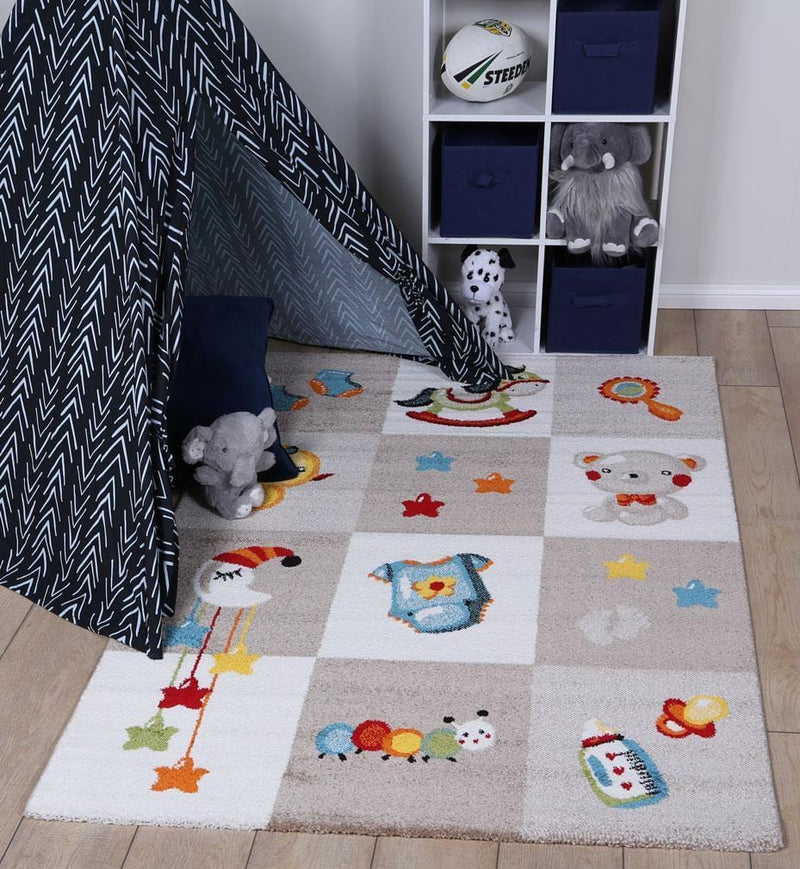 Kids Boxy Rug in Beige
