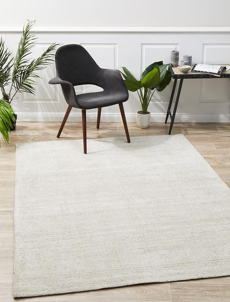 Allure Ivory Cotton Rayon Rug
