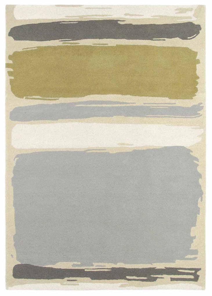 Sanderson Abstract Rug No.45401 in Linden & Silver