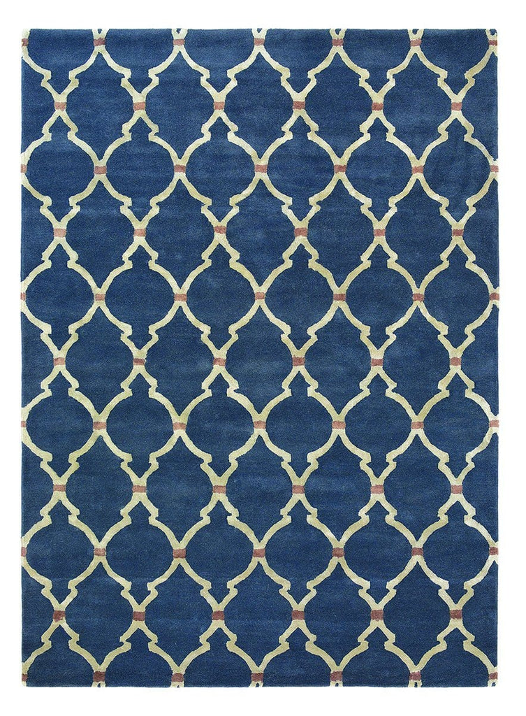 Sanderson Empire Trellis in Indigo : 45508