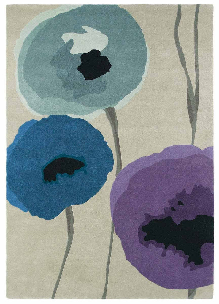 Sanderson Poppies in Indigo & Purple : 45705