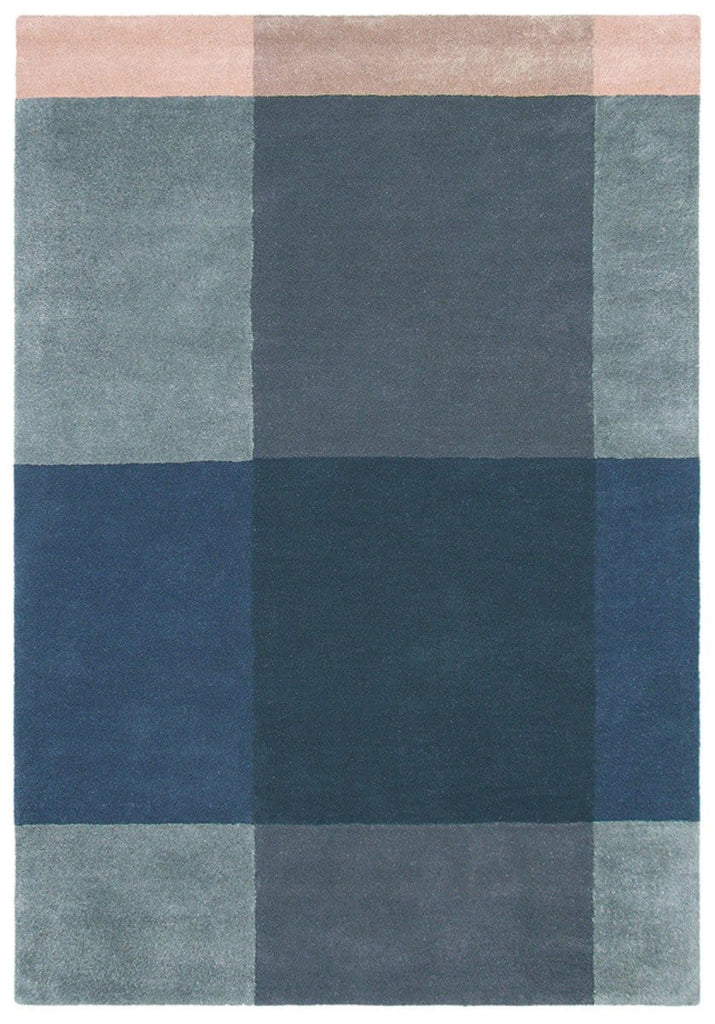 Ted Baker Plaid Rug No.57804 in Grey