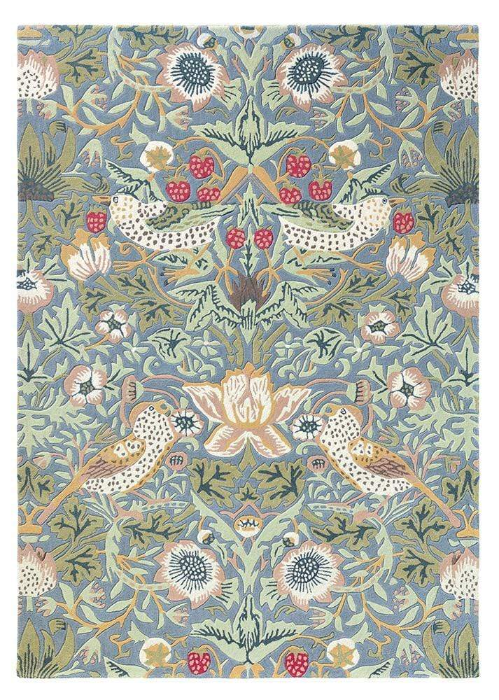 William Morris - The Strawberry Thief Rug in Slate