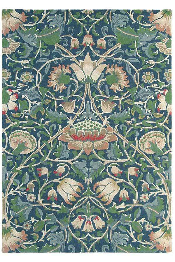 William Morris - Lodden Rug in Indigo & Mineral
