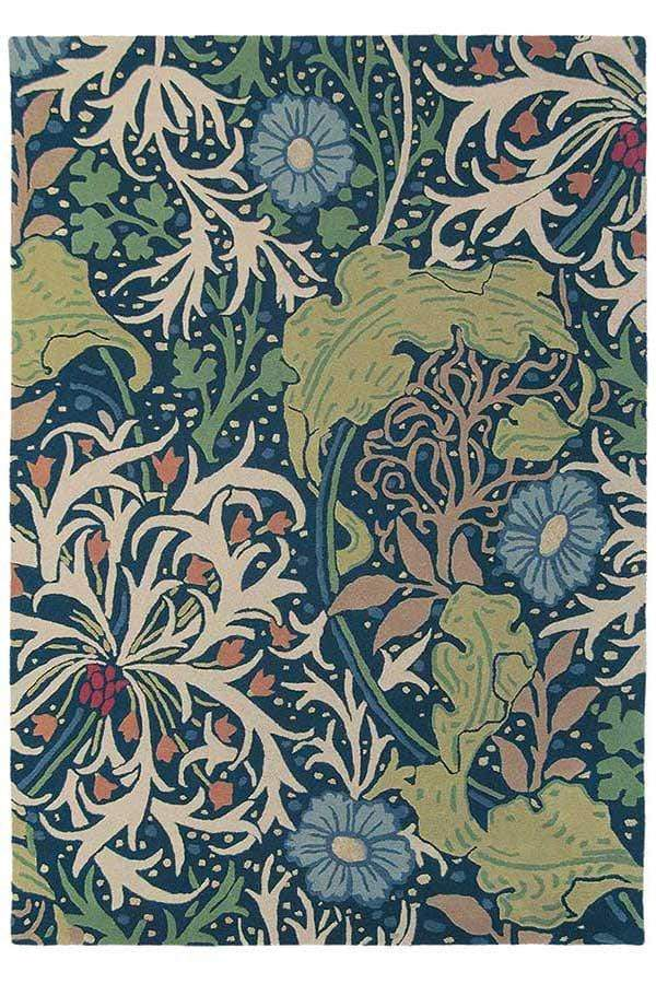 William Morris - Seaweed Rug in Ink